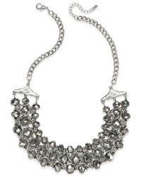 INC International Concepts | Metallic Silver-tone Beaded Chain Necklace | Lyst