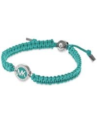 Michael Kors | Blue Macrame Logo Bracelet - Macy's Exclusive | Lyst