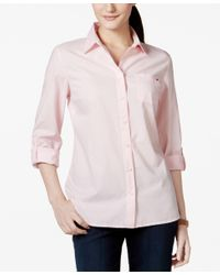 Tommy Hilfiger | Pink Logo Shirt, Only At Macy's | Lyst
