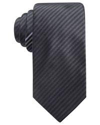 Alfani | Black Men's Stripe Slim Silk Tie, Created For Macy's for Men | Lyst