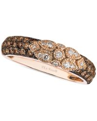 Le Vian Pink Chocolate Deco Estate Diamond (3/4 Ct. T.w.) Ring In 14k Gold
