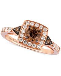 Le Vian | Multicolor Chocolatier Chocolate Diamond And White Diamond Ring In 14k Rose Gold (7/8 Ct. T.w.) | Lyst