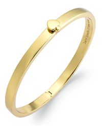 Kate Spade - Metallic Bracelet, 12k Gold-plated Spade Hinged Thin Bangle Bracelet - Lyst