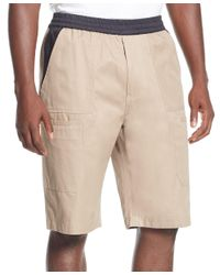 Sean John - Natural Quilted Clean Shorts for Men - Lyst