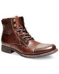 Steve Madden Brown Madden Bradly Boots for men