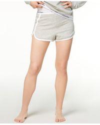Calvin Klein Gray Contrast-trim Sleep Shorts Qs5982
