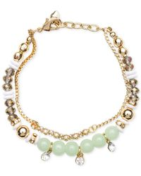 Lonna & Lilly | Blue Gold-tone Multi-bead Bracelet | Lyst