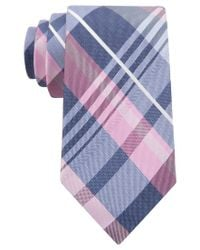 Michael Kors - Pink Michael Spring Plaid Tie for Men - Lyst