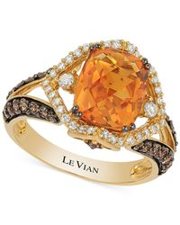 Le Vian | Orange Citrine (2-2/3 Ct. T.w.) And Diamond (3/4 Ct. T.w.) Ring In 14k Gold | Lyst