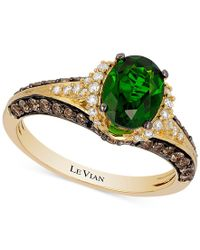 Le Vian | Multicolor Chocolatier Chrome Diopside (1-1/10 Ct. T.w.) And Diamond (2/3 Ct. T.w.) Ring In 14k Gold | Lyst