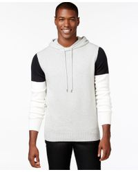 Sean John   Gray Men's Colorblocked Hoodie Sweater for Men   Lyst