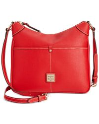 Dooney & Bourke Red Saffiano Leather Kimberly Crossbody
