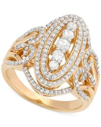 Wrapped in Love - Metallic Diamond Cluster Ring (1 Ct. T.w.) In 14k Gold - Lyst