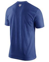 Nike Blue Men's New York Giants Facility T-shirt for men