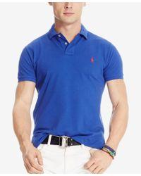 Polo Ralph Lauren - Blue Men's Custom-fit Mesh Polo Shirt for Men - Lyst