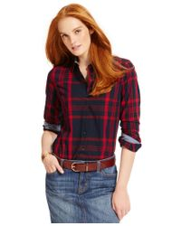 Tommy Hilfiger   Blue Plaid Button-down Shirt, Only At Macy's   Lyst