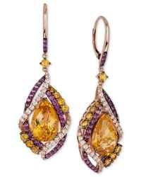 Le Vian | Pink Crazies Collection Multi-stone Drop Earrings (13-1/6 Ct. T.w.) In 14k Rose Gold | Lyst