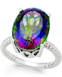 Macy's | Multicolor Mystic Quartz Ring (11-1/2 Ct. T.w.) In Sterling Silver | Lyst