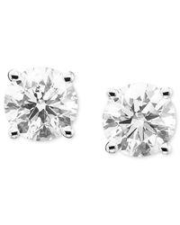 Macy's | Metallic Diamond Stud Earrings (1/5 Ct. T.w.) In 14k White Or Yellow Gold | Lyst