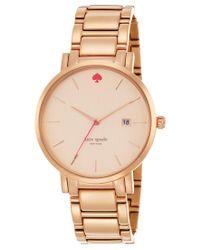 Kate Spade | Multicolor Women's Gramercy Grand Rose Gold-tone Stainless Steel Bracelet Watch 38mm 1yru0641 | Lyst