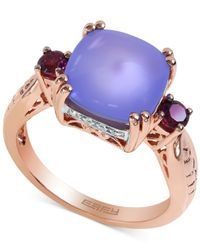 Effy Collection - Purple Chalcedony, Rhodolite And Diamond Accent Ring In 14k Rose Gold (4-1/3 Ct. T.w.) - Lyst