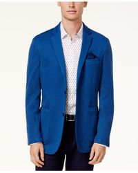 Vince Camuto - Blue Men's Slim-fit Houndstooth Blazer for Men - Lyst