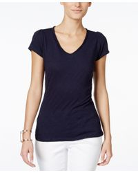 INC International Concepts - Blue V-neck T-shirt, Only At Macy's - Lyst