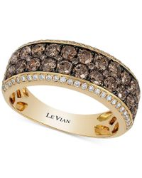 Le Vian - Metallic Chocolatier Chocolate And White Diamond Band (1-1/2 Ct. T.w.) Ring In 14k Gold - Lyst