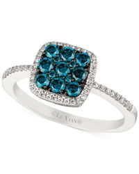 Le Vian | White And Blue Diamond Ring (5/8 Ct. T.w.) In 14k White Gold | Lyst