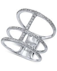 Effy Collection | Multicolor Diamond Stacked Midi Ring (1/2 Ct. T.w.) In 14k White Gold | Lyst