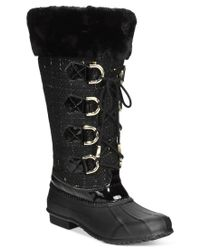 INC International Concepts | Black Lorinah Tweed Boots, Only At Macy's | Lyst
