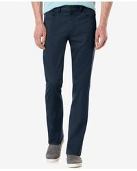 Perry Ellis | Black Men's Slim-fit Solid Sateen Pants for Men | Lyst