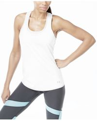 Under Armour | White Racerback Tank Top | Lyst