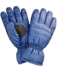 Polo Ralph Lauren | Blue Hybrid Puffer Gloves for Men | Lyst