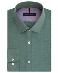 Tommy Hilfiger White Men's Slim-fit Non-iron Soft Wash Solid Dress Shirt for men