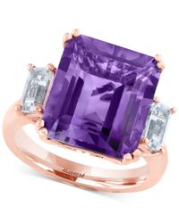 Effy Collection - Purple Amethyst (6-5/8 Ct.t.w.) And White Topaz (1 Ct. T.w.) Ring In 14k Rose Gold - Lyst