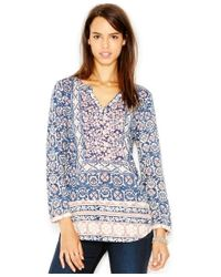 Lucky Brand | Multicolor Mixed-print Top | Lyst