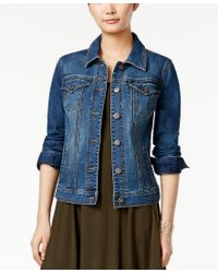 Style & Co. | Blue Petite Mosaic Wash Denim Jacket, Only At Macy's | Lyst