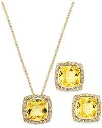 City By City - Metallic November Birthstone Necklace & Earring Set - Lyst