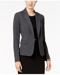 Nine West | Gray One-button Notch-collar Jacket | Lyst