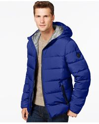 Michael Kors | Blue Down Packable Jacket for Men | Lyst
