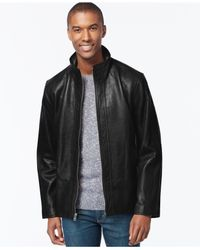 Marc New York   Black Zip-front Leather Jacket for Men   Lyst