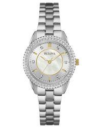 Bulova | Metallic Women's Stainless Steel Bracelet Watch 30mm 98l223 | Lyst