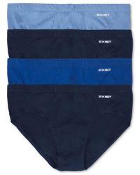 2xist Blue Bikini Briefs, 4 Pack for men