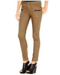 Sanctuary Green Zipper-pocket Skinny Pants