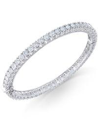 Macy's - Diamond (5 Ct. T.w.) Bangle Bracelet In 14k White Gold - Lyst