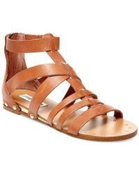 Steve Madden Brown Drastik Leather Gladiator Sandals
