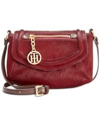 Tommy Hilfiger | Brown Jerry Calf Hair Small Crossbody | Lyst
