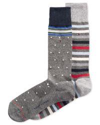 Tommy Hilfiger   Gray Print Trouser Socks, 2 Pack for Men   Lyst