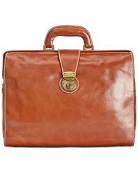 Patricia Nash | Brown Men's Heritage Leather Slim Briefcase | Lyst
